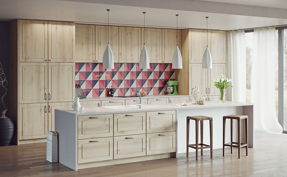 6- Wood Grain Kitchens